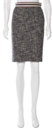 Giambattista Valli Tweed Knee-Length Skirt