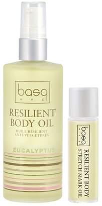 Basq NYC Eucalyptus Resilient Body Stretch Mark Oil Duo
