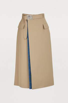 Maison Margiela Wool-blend skirt