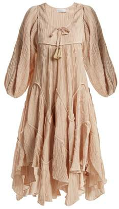 Zimmermann Bayou Handkerchief Hem Dress - Womens - Nude