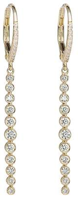 Ef Collection 14K Yellow Gold Diamond & Topaz Vertical Bezel Bar Earrings - 1.40 ctw
