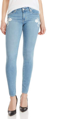 Levi's 711 Floral Embroidered Skinny Jeans