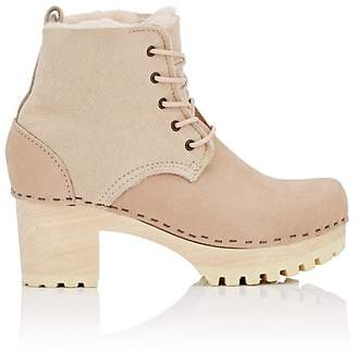 NO. 6 Women's Shearling-Lined Leather Ankle Boots