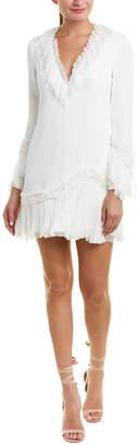 Alexis Azura Silk-Trim Shift Dress