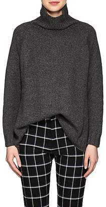 Barneys New York Women's Oversized Cashmere Turtleneck Sweater - Dark Gray