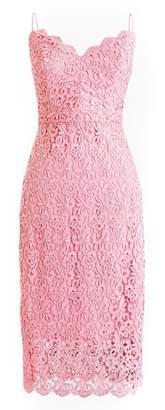 J.Crew J. CREW Guipure Lace Spaghetti Strap Dress