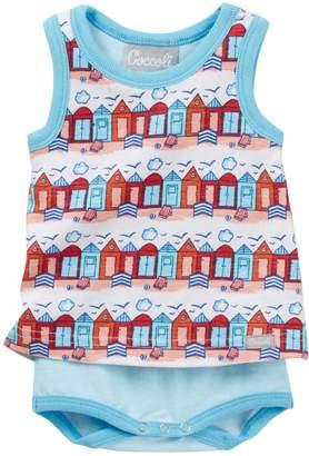 Coccoli Beach Hut Print Bodysuit (Baby)