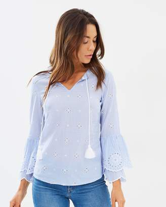 Dorothy Perkins Embroidered Chambray Tee
