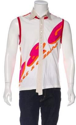 Dolce & Gabbana Logo Print Sleeveless Shirt
