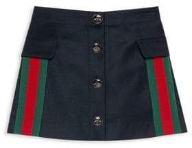 Gucci Little& Big Girl's Wool& Cashmere A-Line Skirt