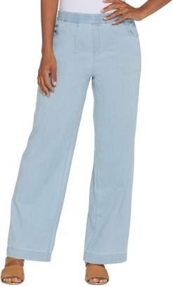 Denim & Co. Regular Stretch Denim Wide Leg Pull-On Pants