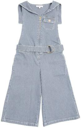 Chloé Striped Stretch Cotton Denim Jumpsuit