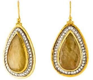 Gurhan Sapphire and Diamond Elements Teardrop Earrings