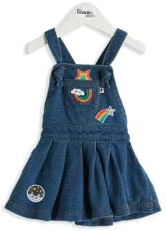 Baby Girl's Diva Badges Denim Pinafore Dress