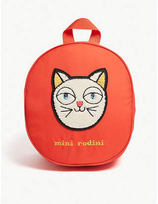 Mini Rodini Cat applique backpack