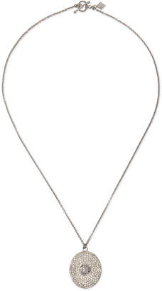 Armenta Large Pave Diamond Oval Pendant Necklace