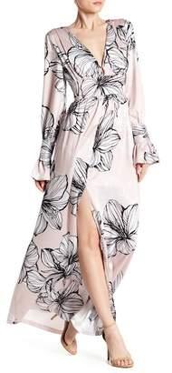 Alexia Admor Ruffle Sleeve Front Slit Dress