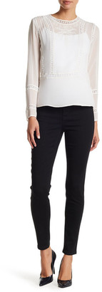 Kensie High Waisted Ankle Biter Skinny Jean $68 thestylecure.com