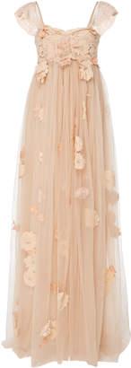 LoveShackFancy Irene Strapless Gown