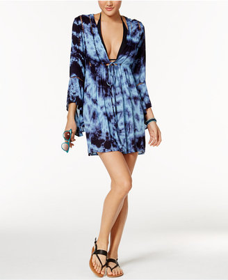 Raviya Tie-Dyed Crochet-Inset Cover-Up $54 thestylecure.com