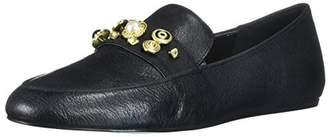 Nine West Women's BAUS Leather Loafer Flat,7 UK
