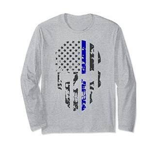 Police Supporter Gift Thin Blue Line Long Sleeve T-Shirt