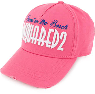 DSQUARED2 Sunset on the Beach embroidered baseball cap