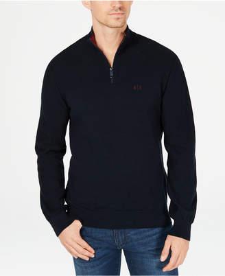 Armani Exchange Men's Quarter-Zip Sweater