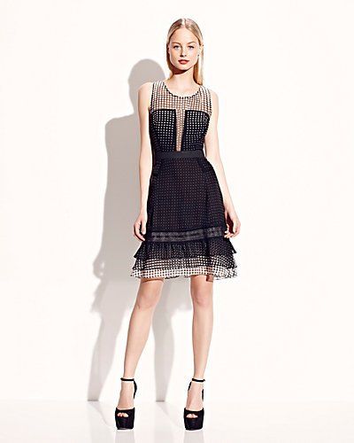 Betsey Johnson Sleeveless Dress With Lace Details