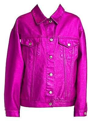 MSGM Women's Coated Denim Jacket