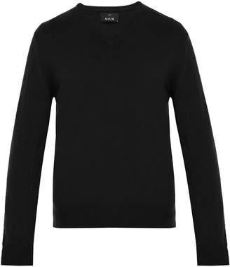 Allude V-neck cashmere sweater