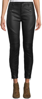 Blank NYC Faux-Leather Skinny Moto Pants