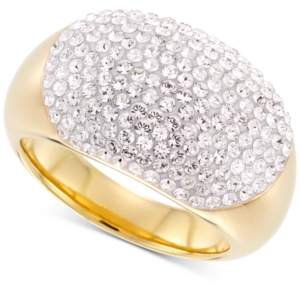 Swarovski Signature Gold Crystal Statement Ring in 14k Gold Over Resin, Created for Macy's