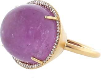 Irene Neuwirth JEWELRY Pink Tourmaline Diamond Pave Ring