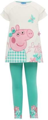 M&Co Peppa Pig tunic top and leggings set
