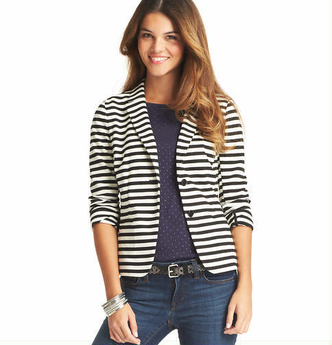 LOFT Striped Knit Blazer