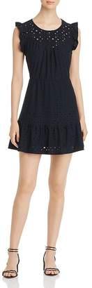 Vero Moda Sally Frilled Eyelet Mini Dress