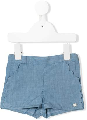 Tartine et Chocolat scalloped detail shorts