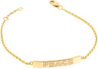 Ariana Rabbani 14K 0.25 Ct. Tw. Diamond Peace Small Bar Bracelet