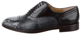 Marc Jacobs Marc Jacobs Embossed Lace-Up Oxfords