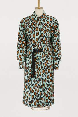 Kenzo Leopard shirt dress