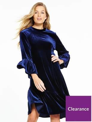Very Velvet Asymmetric Tunic Dress