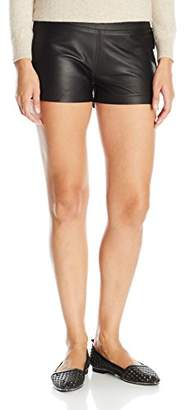 David Lerner Women's Leather Short with Side Zip