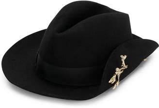 Borsalino leaf appliqué hat