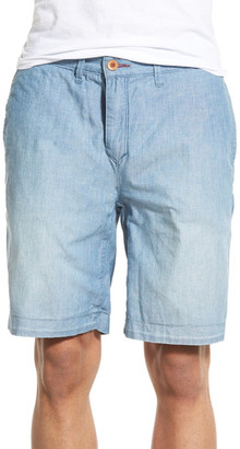 Psycho Bunny Discovery Reversible Chambray Short $118 thestylecure.com