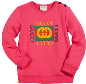 8dbaee482 Gucci Vintage-Logo Cotton Sweatshirt, Size 12-36 Months