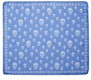Alexander McQueenAlexander McQueen Bicolour skull silk chiffon scarf