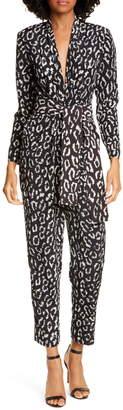 A.L.C. Kieran Leopard Print Jumpsuit