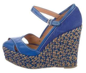 Sergio Rossi Espadrille Wedge Pumps
