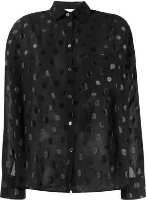 Semi-Couture Semicouture sheer polka dot blouse